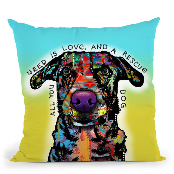 Love And Rescue Throw Pillow By Dean Russo