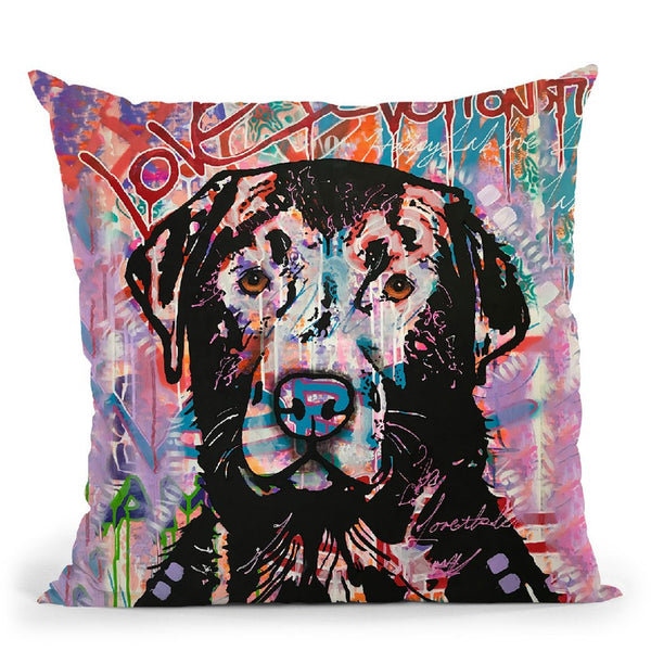 Love Devotion Lab Throw Pillow By Dean Russo