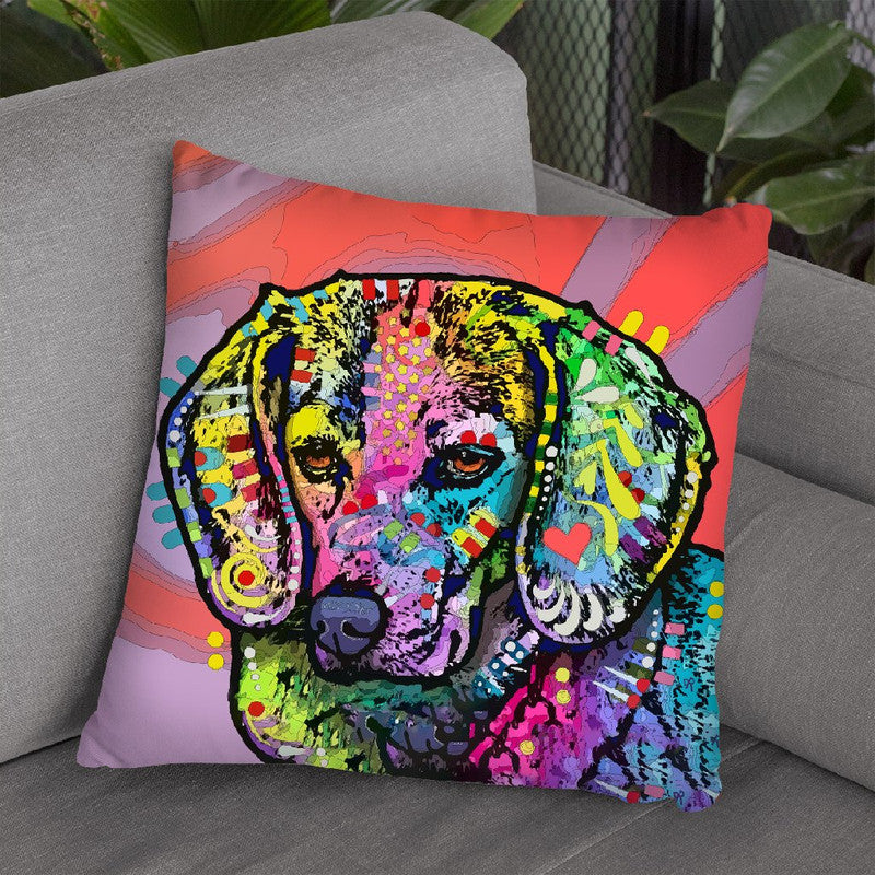 Magic Beagle Throw Pillow By Dean Russo