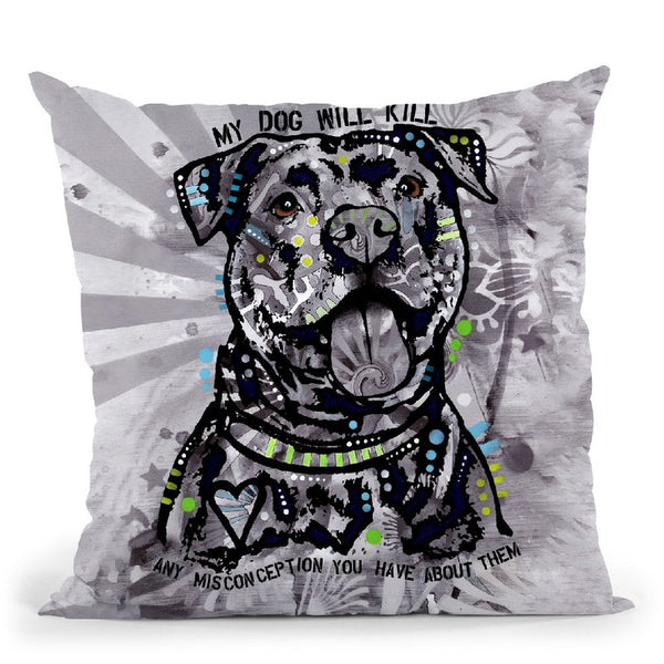 My Dog Throw Pillow By Dean Russo