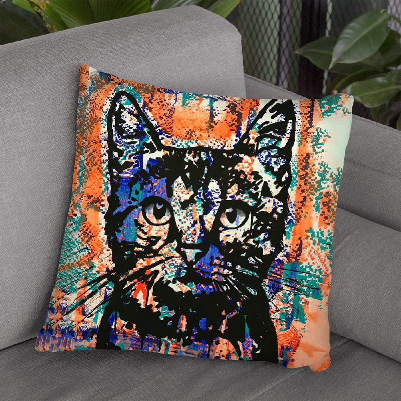 Nine Lives Cat Throw Pillow By Dean Russo