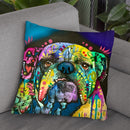 Straight On Bull Throw Pillow By Dean Russo