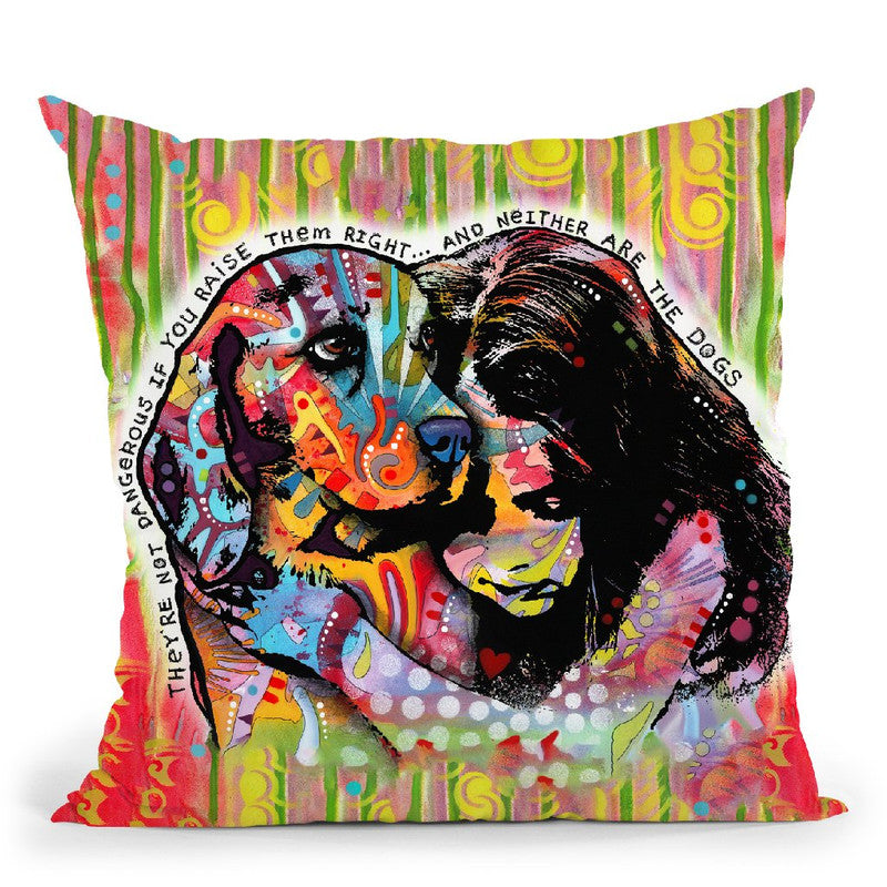 They'Re Not Dangerous Throw Pillow By Dean Russo