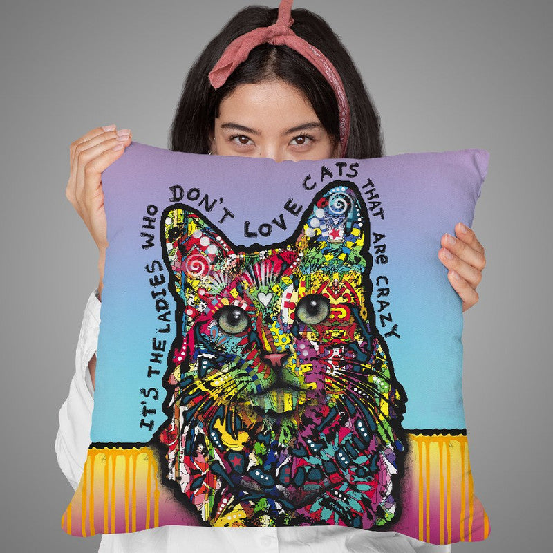 Crazylady Throw Pillow By Dean Russo