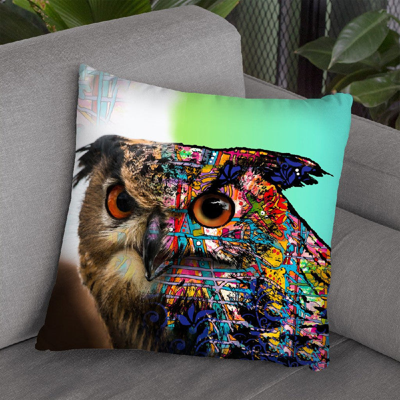 Exposed Owl Throw Pillow By Dean Russo