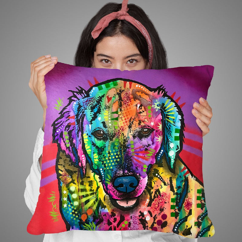 Luvin Retriever Throw Pillow By Dean Russo