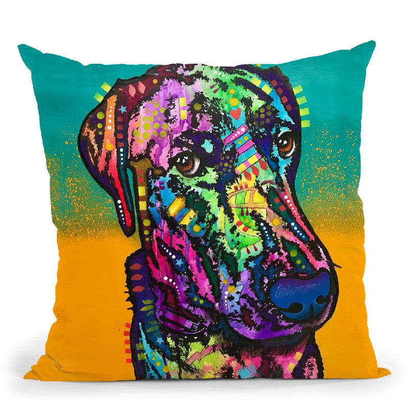 Never Me Throw Pillow By Dean Russo
