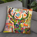 Patch Buck Throw Pillow By Dean Russo