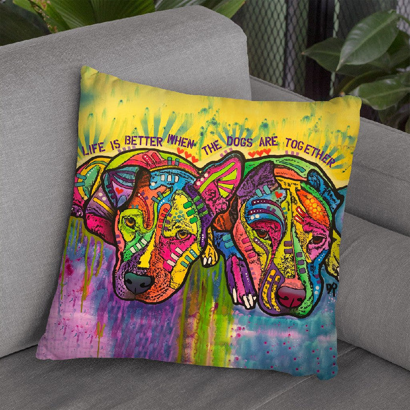 Together Throw Pillow By Dean Russo