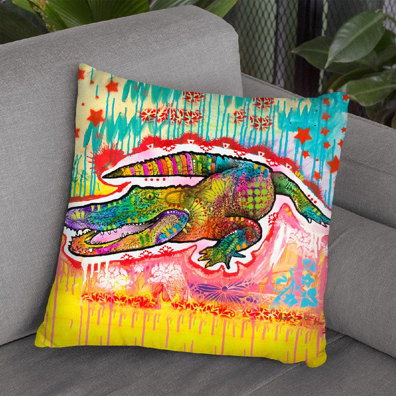 Alligator 2 Throw Pillow By Dean Russo