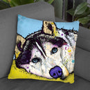 Siberian Husky Throw Pillow By Dean Russo