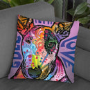 Bull Terrier Luv Throw Pillow By Dean Russo