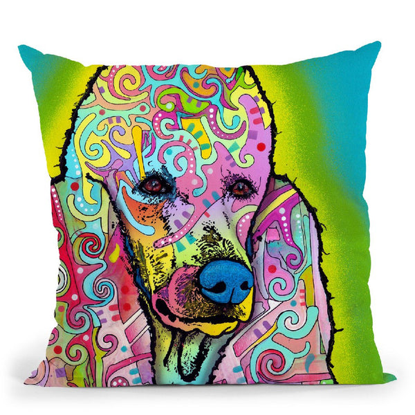 Poodle Throw Pillow By Dean Russo