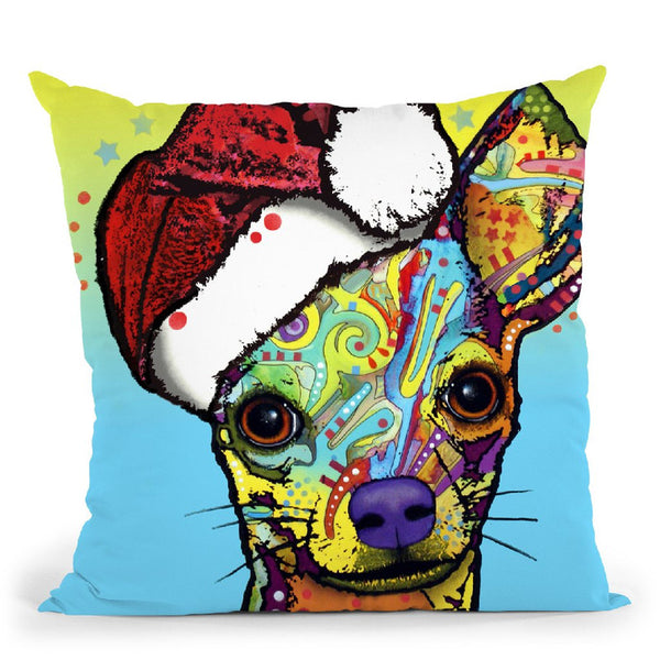 Chihuahua Christmas Throw Pillow By Dean Russo