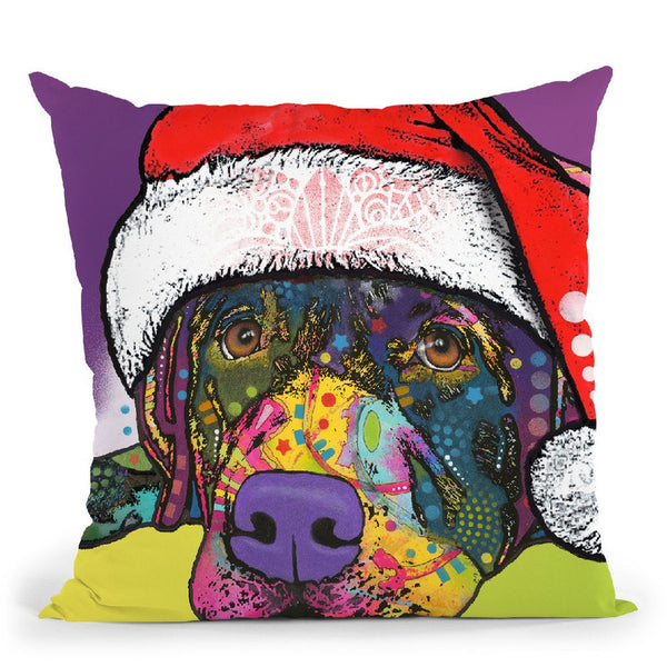 Savvy Labrador Christmas Throw Pillow By Dean Russo