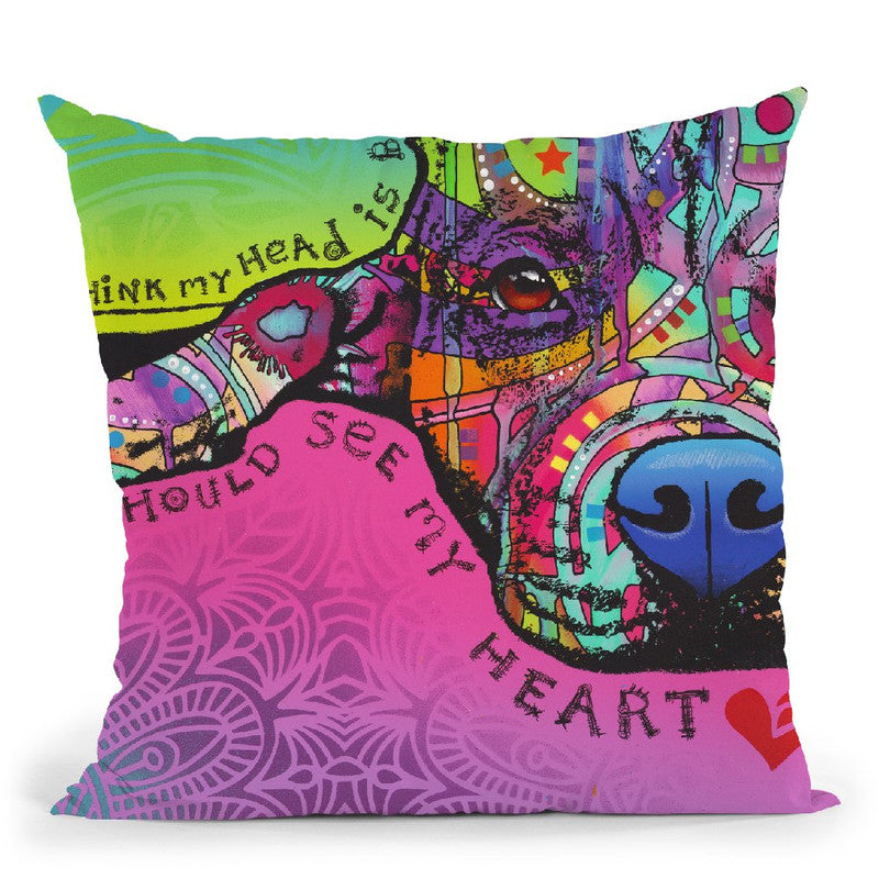 Youould See My Heart Throw Pillow By Dean Russo