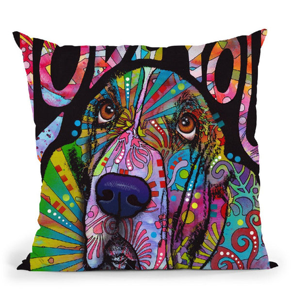 Love You Basset Throw Pillow By Dean Russo