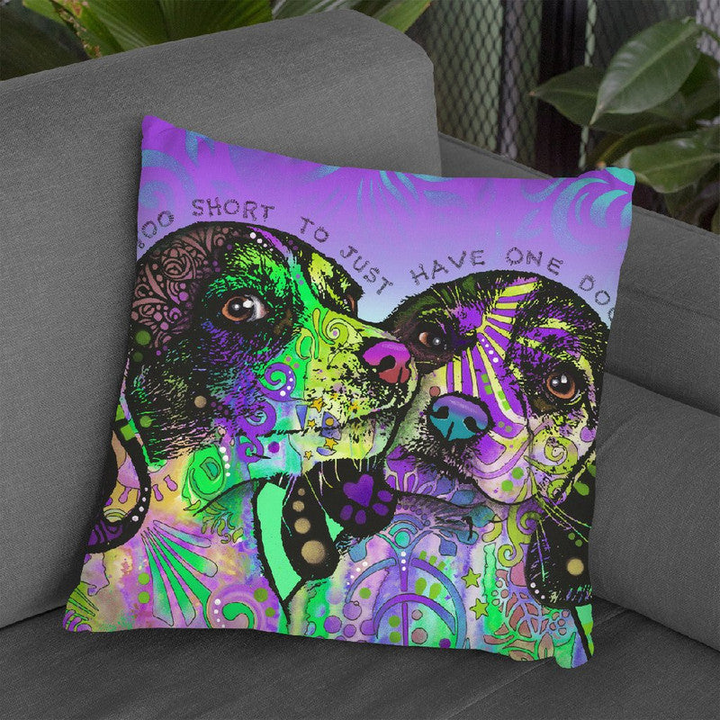 Life Is Tooort Throw Pillow By Dean Russo