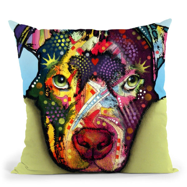 Love Is A Pittie Throw Pillow By Dean Russo