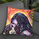 A Dog Changes Everything Throw Pillow By Dean Russo