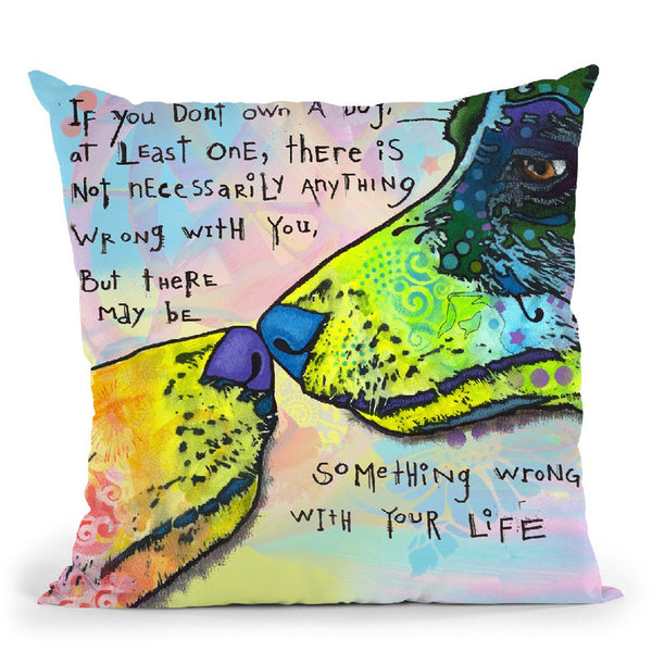 Of Life And Dog Throw Pillow By Dean Russo