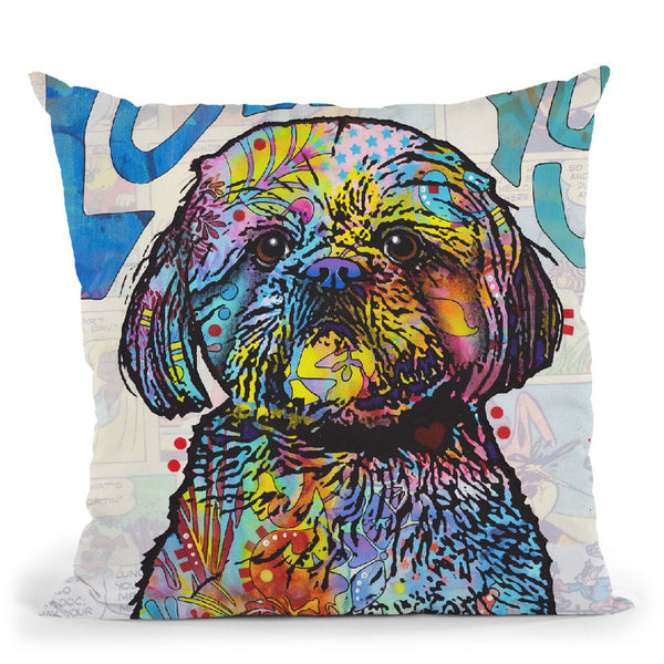 Love Youih Tzu Throw Pillow By Dean Russo