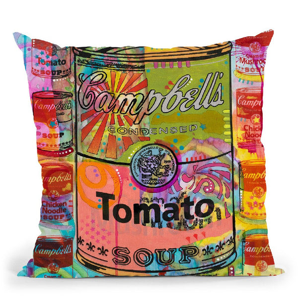 Tomato On Mushrooms Throw Pillow By Dean Russo