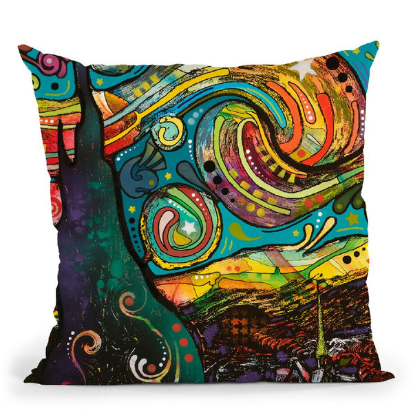 Starry Night Dean Russo Throw Pillow By Dean Russo