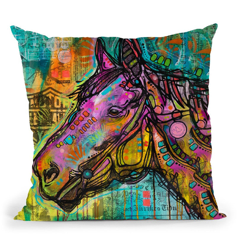 Horsepower Throw Pillow By Dean Russo