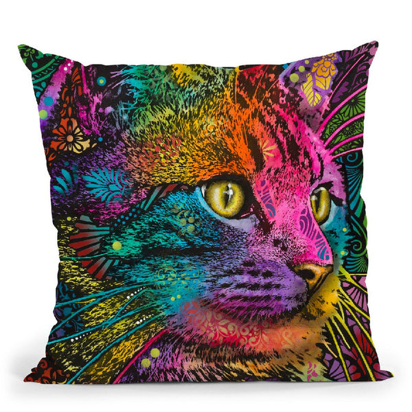 Felis Throw Pillow By Dean Russo