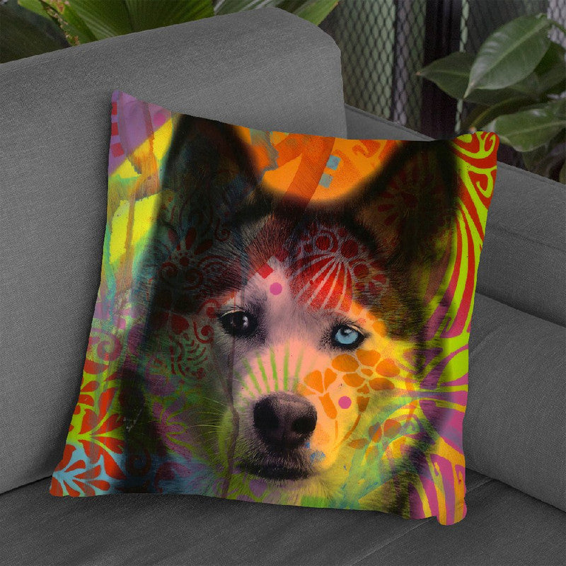 Husky'S Eye Throw Pillow By Dean Russo
