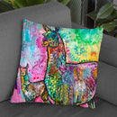 Psychedelic Llama Throw Pillow By Dean Russo