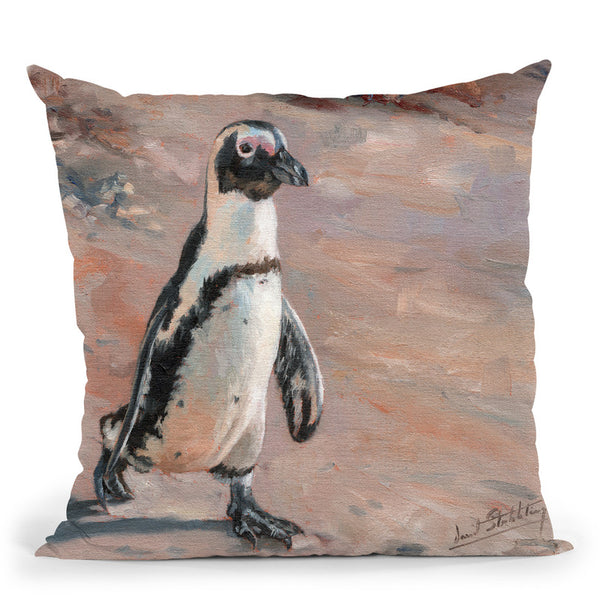 Beach Stroll Throw Pillow By David Stribbling