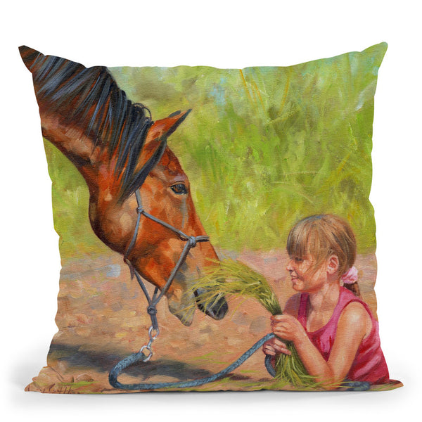 Best Friends Throw Pillow By David Stribbling