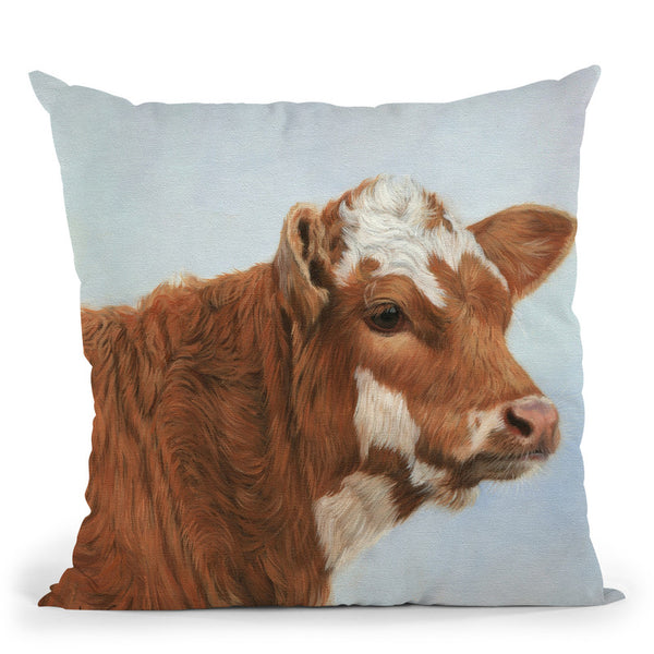 Calf Throw Pillow By David Stribbling