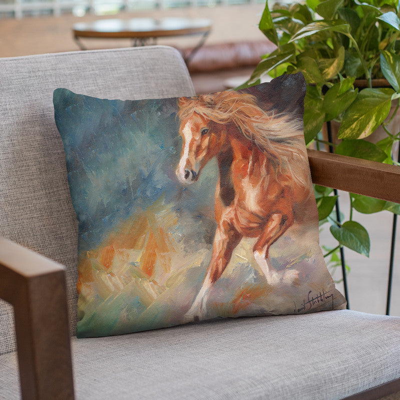 Dancing Horse Throw Pillow By David Stribbling