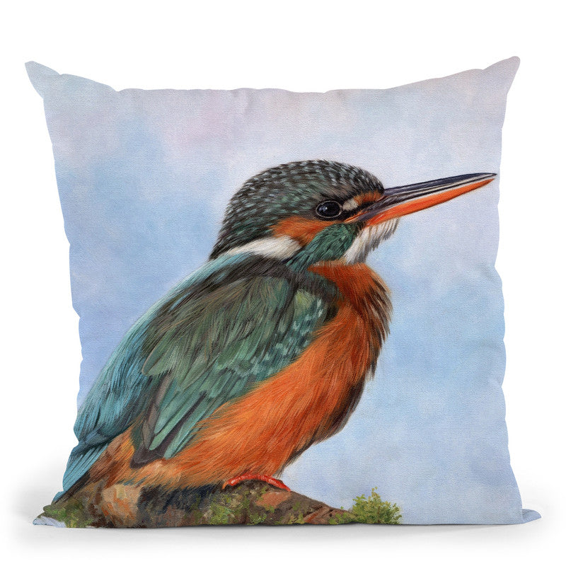 Kingfisher Throw Pillow By David Stribbling