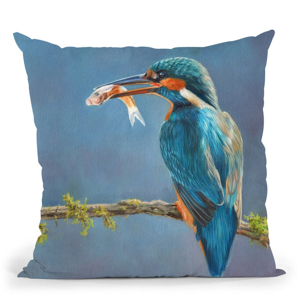 Kingfisher I Throw Pillow By David Stribbling