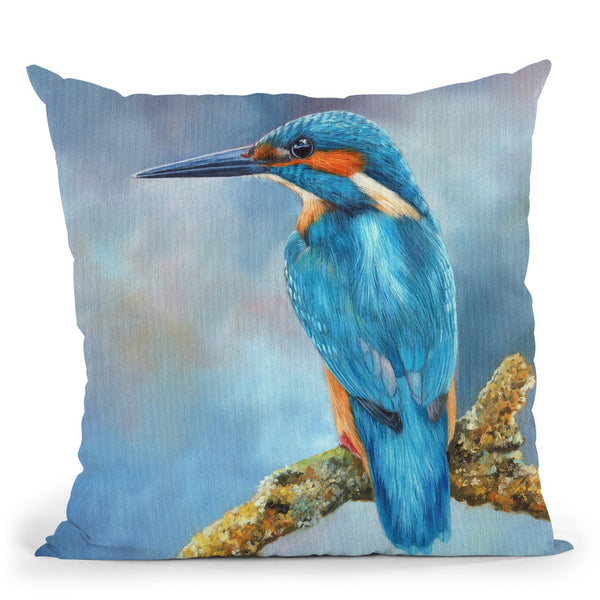 Kingfisher Ii Throw Pillow By David Stribbling