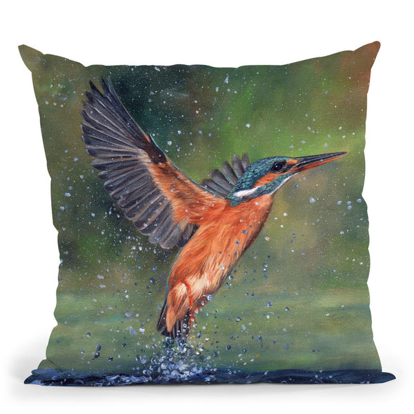 Kingfisher Iii Throw Pillow By David Stribbling
