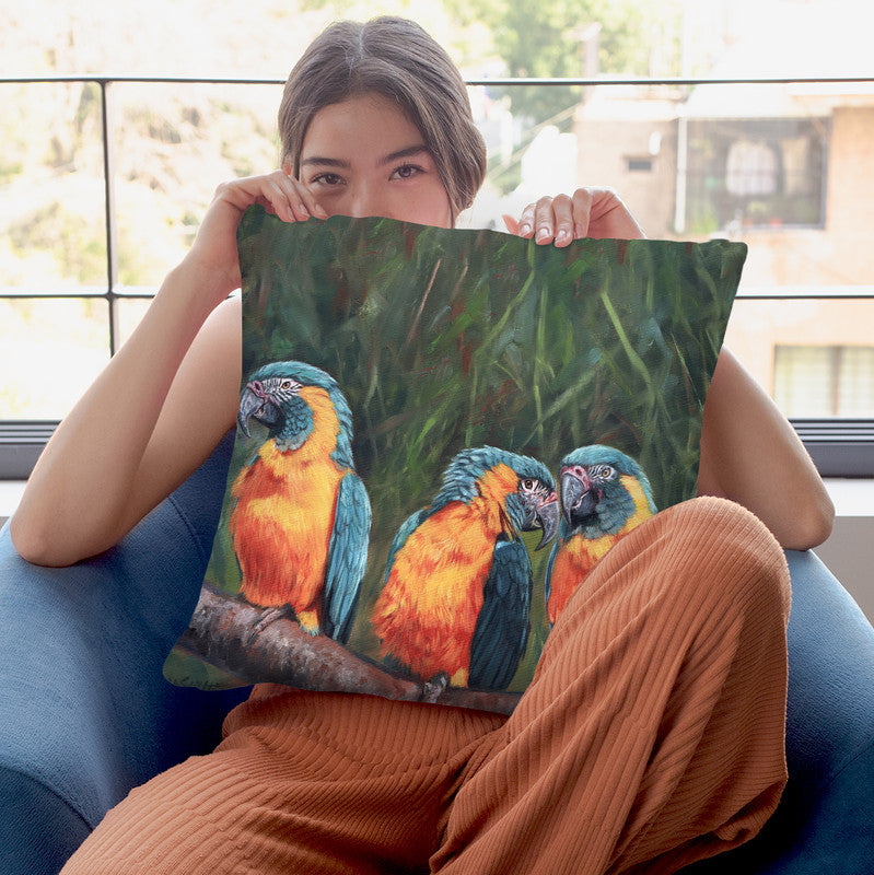 Macaws Throw Pillow By David Stribbling