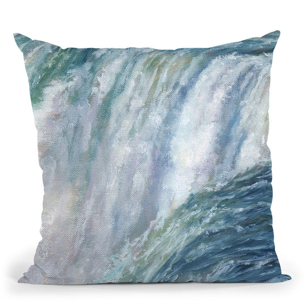 Niagara Fall Throw Pillow By David Stribbling