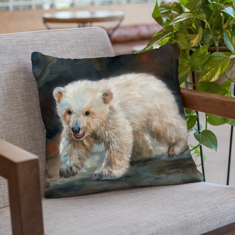 Polar Bear Throw Pillow By David Stribbling