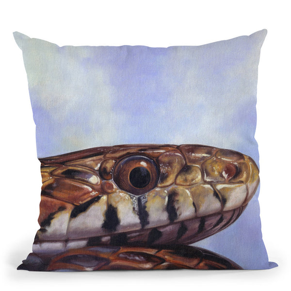 Snake Throw Pillow By David Stribbling