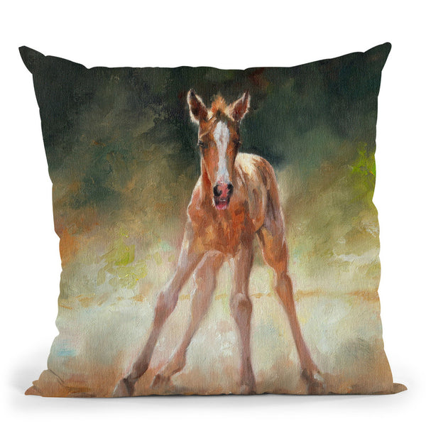 Sorrel Horse Throw Pillow By David Stribbling