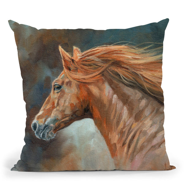 Stallion Throw Pillow By David Stribbling