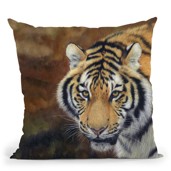 Tiger Siberian Throw Pillow By David Stribbling