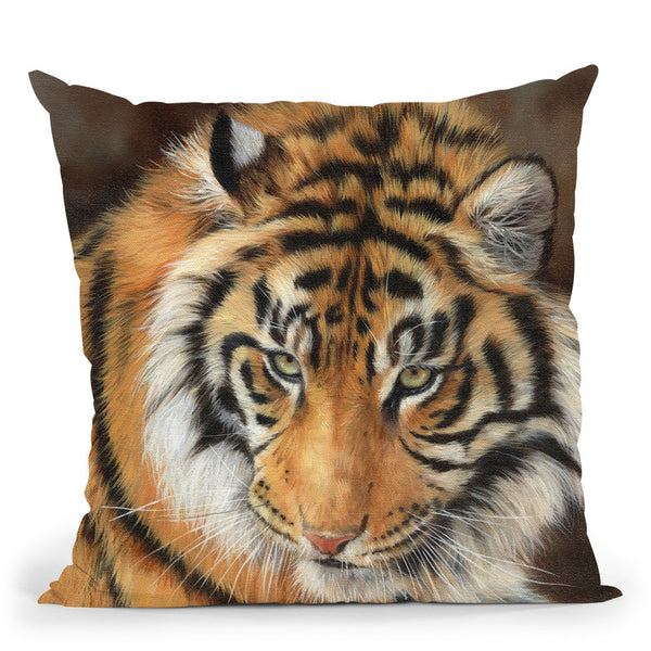 Tiger Xi Throw Pillow By David Stribbling