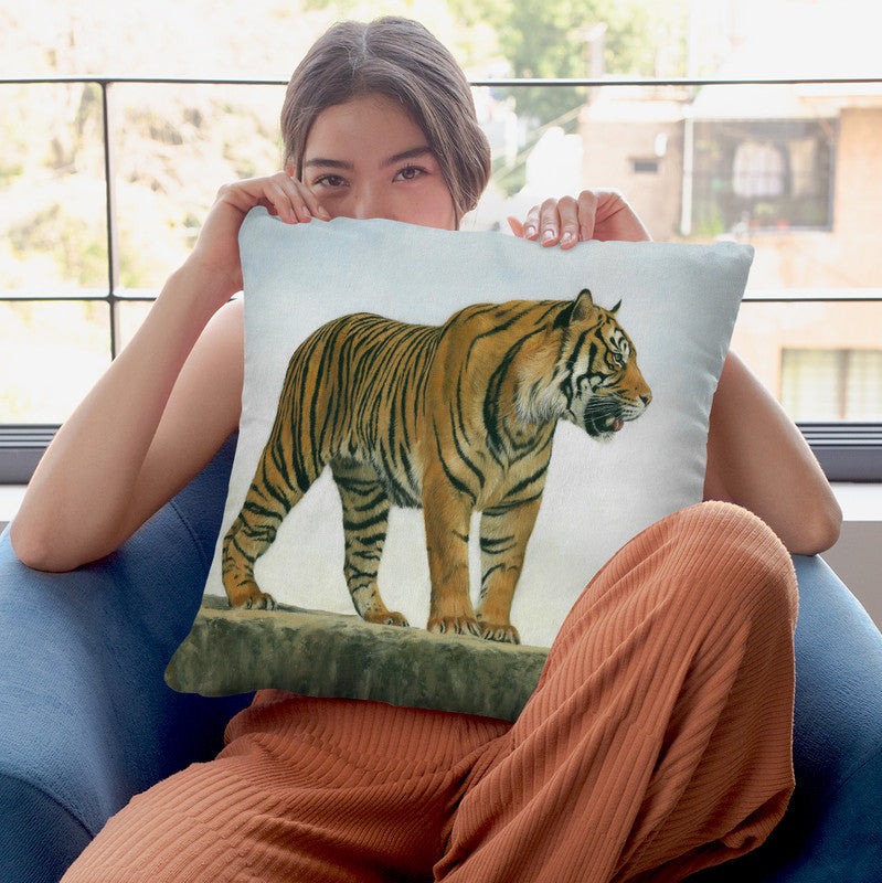 Tiger X Throw Pillow By David Stribbling