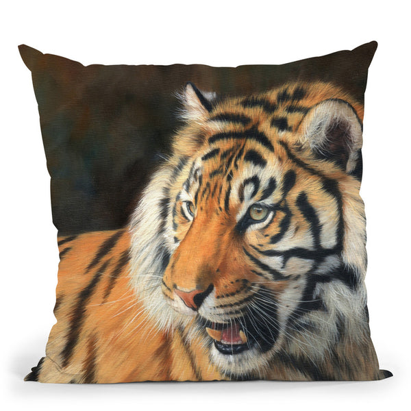 Tiger Viiii Throw Pillow By David Stribbling